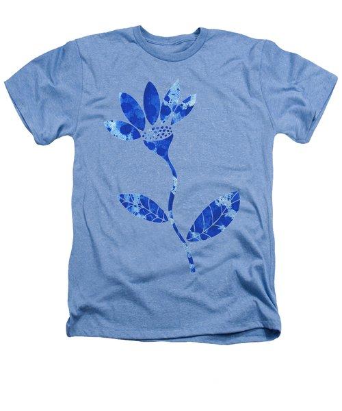 Blue Flower Heathers T-Shirt by Frank Tschakert