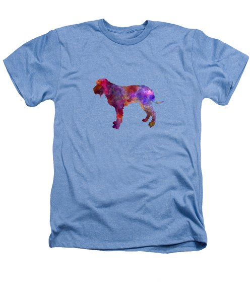 Blue Gascony Griffon In Watercolor Heathers T-Shirt by Pablo Romero