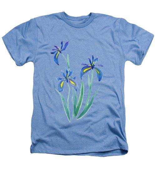 Blue Iris Heathers T-Shirt by Color Color