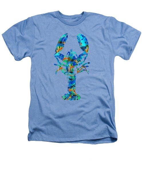 Blue Lobster Art By Sharon Cummings Heathers T-Shirt by Sharon Cummings