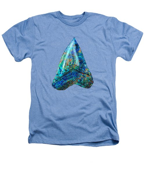Blue Shark Tooth Art By Sharon Cummings Heathers T-Shirt by Sharon Cummings