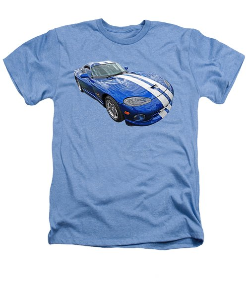 Blue Viper Heathers T-Shirt by Gill Billington