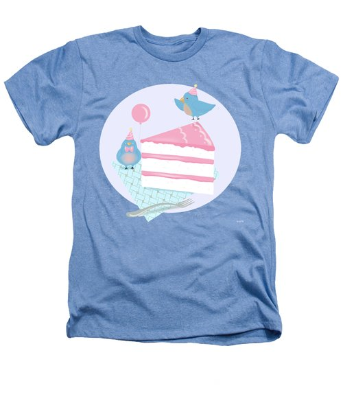 Bluebirds Love Birthday Cake Heathers T-Shirt by Little Bunny Sunshine