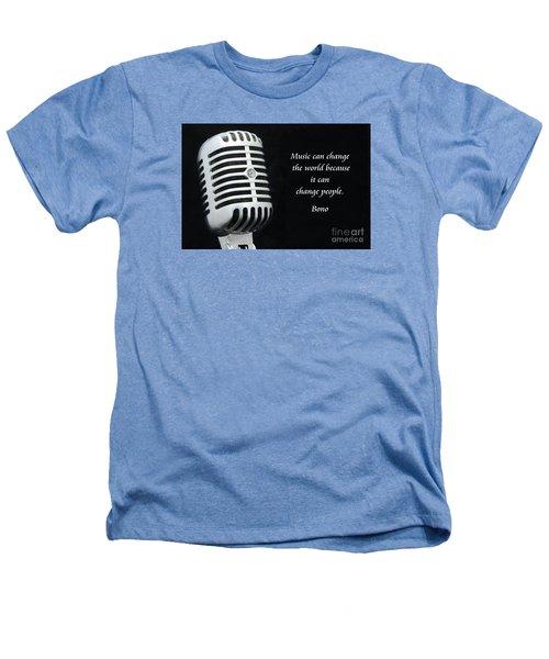 Bono On Music Heathers T-Shirt by Paul Ward