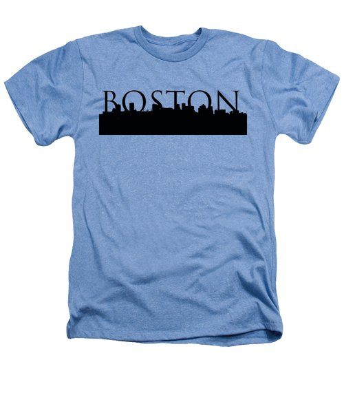 Boston Skyline Outline With Logo Heathers T-Shirt by Joann Vitali