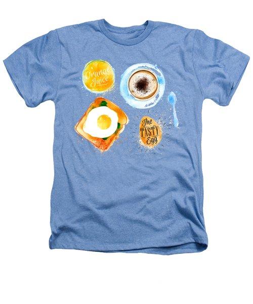 Breakfast 02 Heathers T-Shirt by Aloke Design