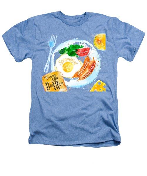 Breakfast 04 Heathers T-Shirt by Aloke Design