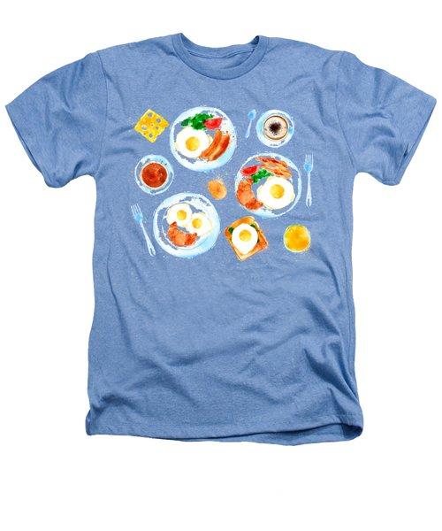 Breakfast 05 Heathers T-Shirt by Aloke Design