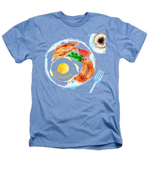 Breakfast 03 Heathers T-Shirt by Aloke Design