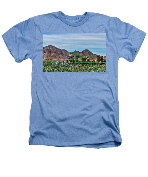 Broccoli Harvest Heathers T-Shirt by Robert Bales