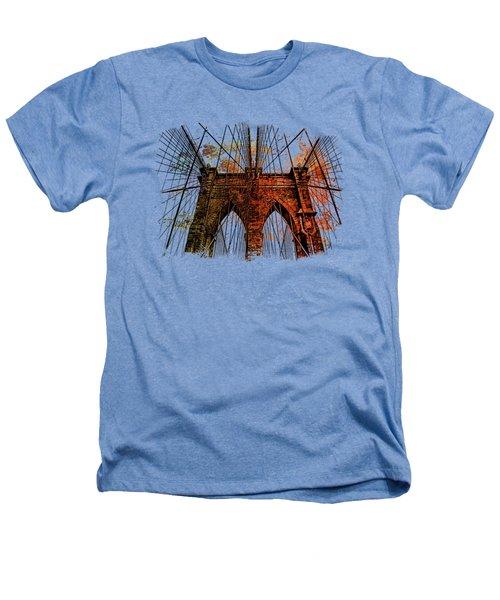Brooklyn Bridge Art 1 Heathers T-Shirt by Di Designs