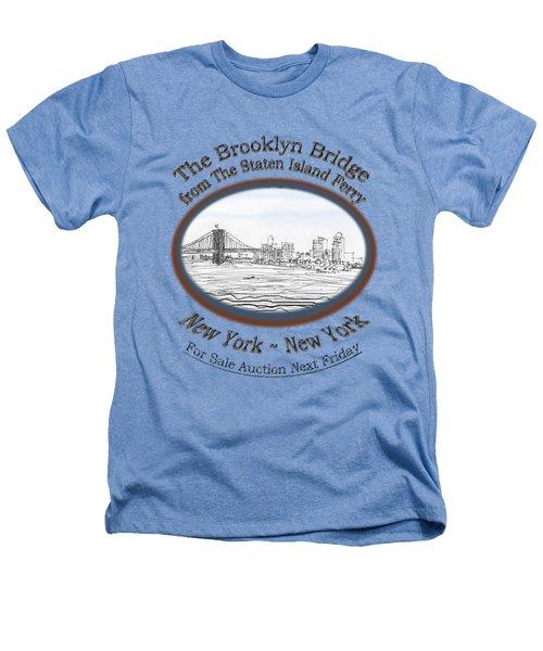 Brooklyn Bridge Heathers T-Shirt by James Lewis Hamilton