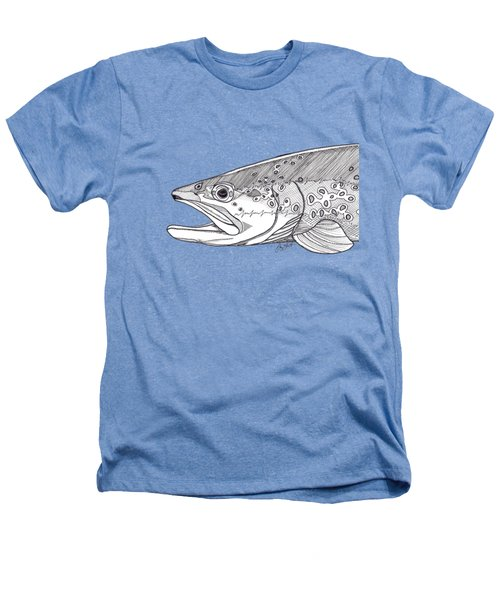 Brown Trout Heathers T-Shirt by Jay Talbot