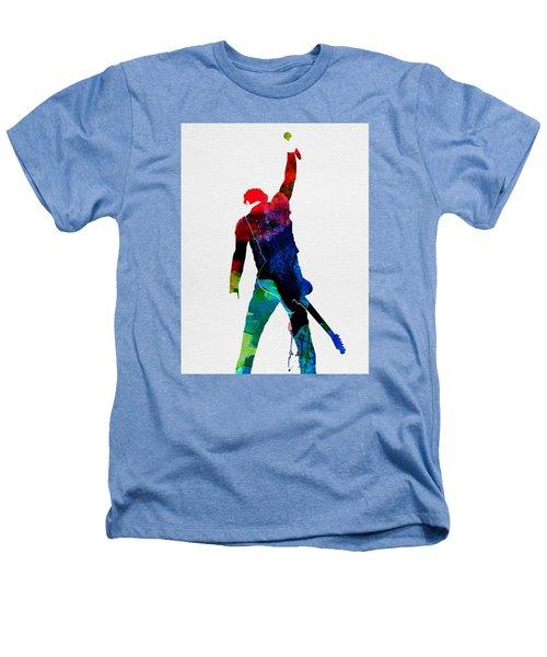 Bruce Watercolor Heathers T-Shirt by Naxart Studio