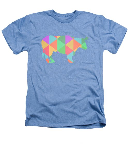 Bull Cow Triangles Heathers T-Shirt by Edward Fielding