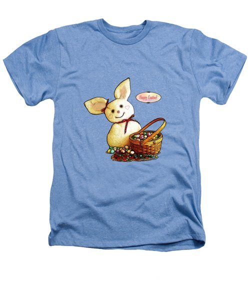 Bunny N Eggs Card Heathers T-Shirt by Methune Hively