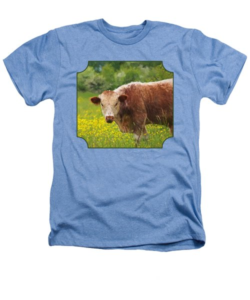 Buttercup - Brown Cow Heathers T-Shirt by Gill Billington