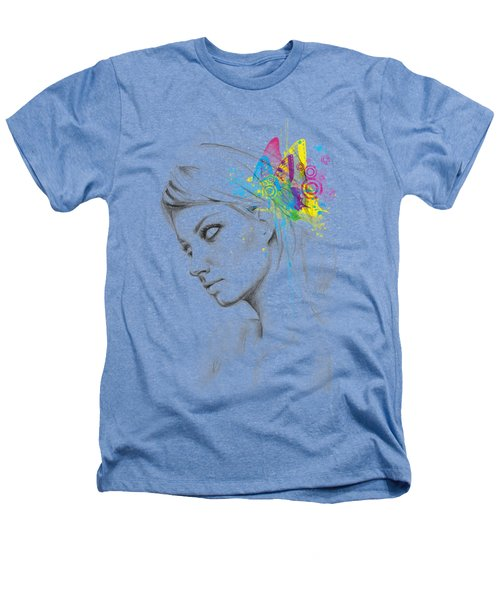Butterfly Queen Heathers T-Shirt by Olga Shvartsur