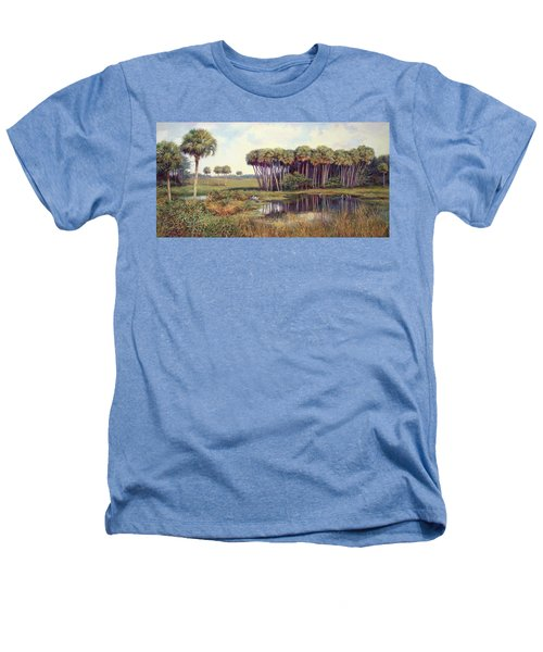 Cabbage Palm Hammock Heathers T-Shirt by Laurie Hein