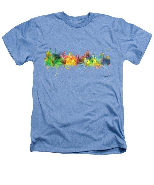Cambridge England Skyline Heathers T-Shirt by Marlene Watson