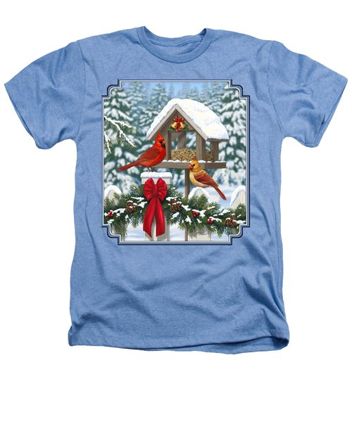 Cardinals Christmas Feast Heathers T-Shirt by Crista Forest