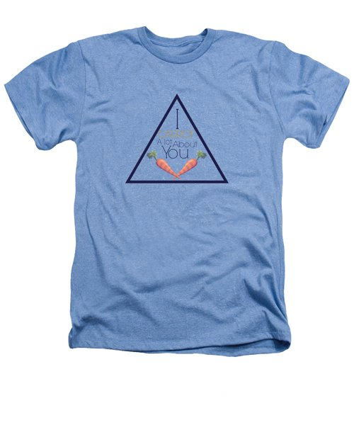Carrot About You Pyramid Heathers T-Shirt by Lunar Harvest Designs