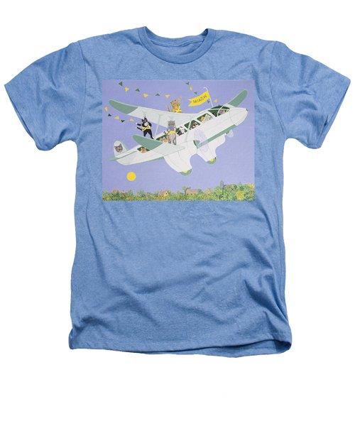 Cat Air Show Heathers T-Shirt by Pat Scott