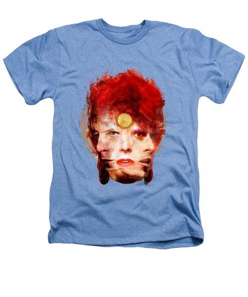 Ch Ch Changes David Bowie Portrait Heathers T-Shirt by Big Fat Arts