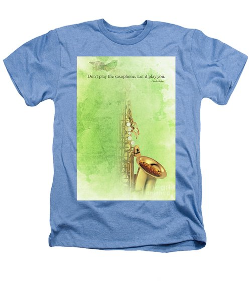 Charlie Parker Saxophone Green Vintage Poster And Quote, Gift For Musicians Heathers T-Shirt by Pablo Franchi