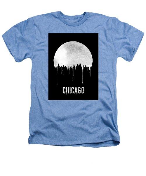 Chicago Skyline Black Heathers T-Shirt by Naxart Studio