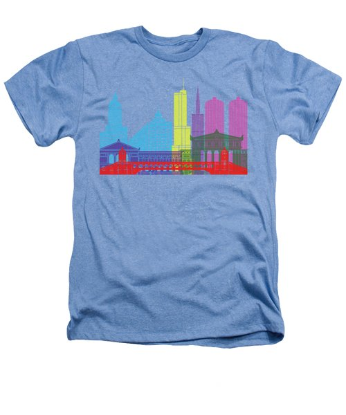 Chicago Skyline Pop Heathers T-Shirt by Pablo Romero