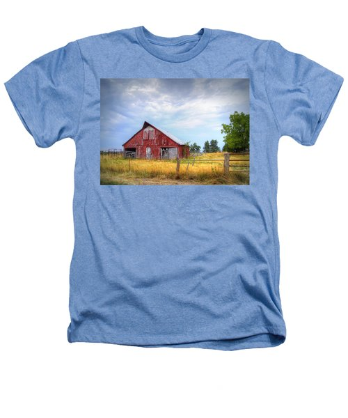 Christian School Road Barn Heathers T-Shirt by Cricket Hackmann