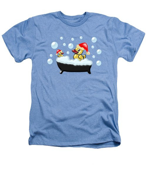 Christmas Ducks Heathers T-Shirt by Anastasiya Malakhova