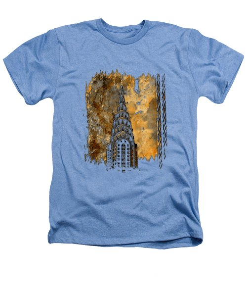 Chrysler Spire Earthy 3 Dimensional Heathers T-Shirt by Di Designs
