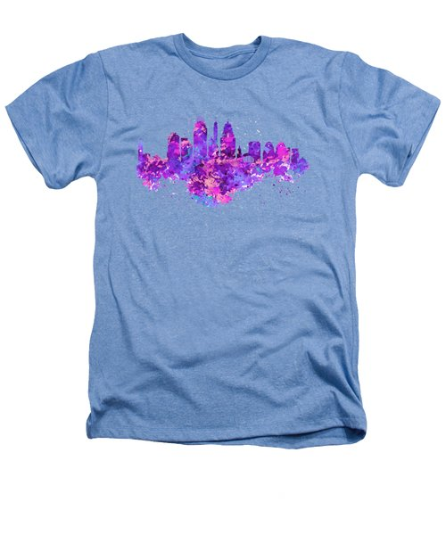 Cincinnati Skyline Heathers T-Shirt by Marian Voicu