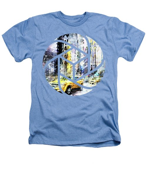 City-art Times Square Streetscene Heathers T-Shirt by Melanie Viola