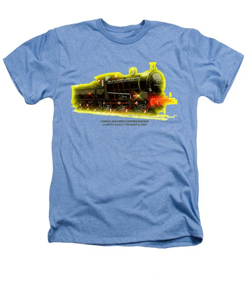 Classic British Steam Locomotive Heathers T-Shirt by Heidi De Leeuw