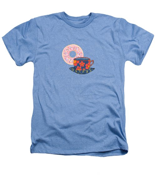 Coffee And Donuts Heathers T-Shirt by Kathleen Sartoris