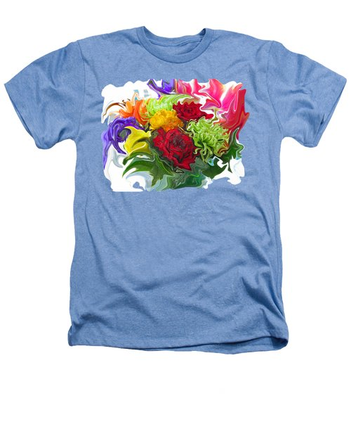 Colorful Bouquet Heathers T-Shirt by Kathy Moll
