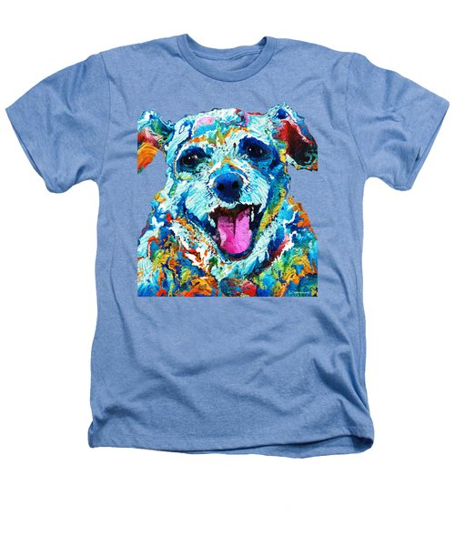Colorful Dog Art - Smile - By Sharon Cummings Heathers T-Shirt by Sharon Cummings