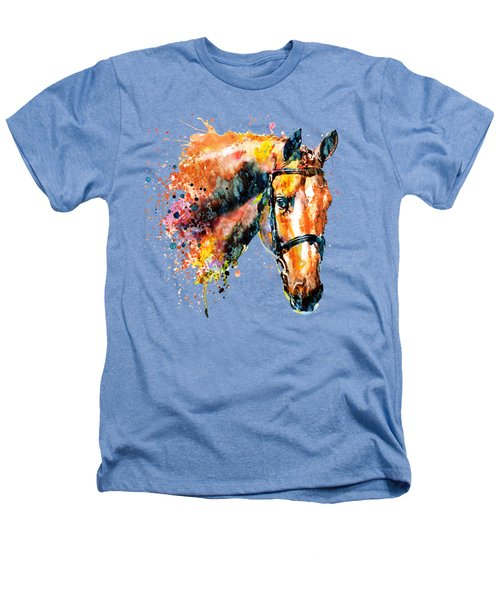Colorful Horse Head Heathers T-Shirt by Marian Voicu