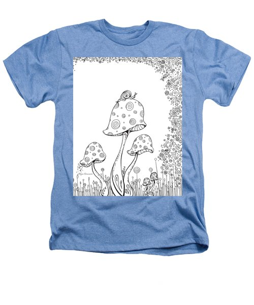 Coloring Page With Beautiful In The Garden 8 Drawing By Megan Duncanson Heathers T-Shirt by Megan Duncanson