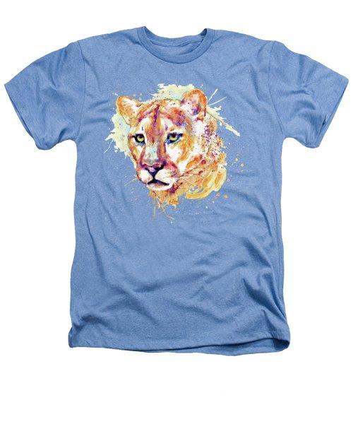 Cougar Head Heathers T-Shirt by Marian Voicu