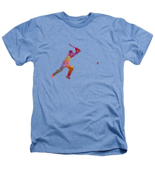 Cricket Player Batsman Silhouette 04 Heathers T-Shirt by Pablo Romero