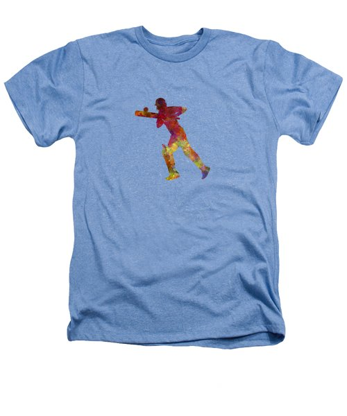 Cricket Player Batsman Silhouette 06 Heathers T-Shirt by Pablo Romero