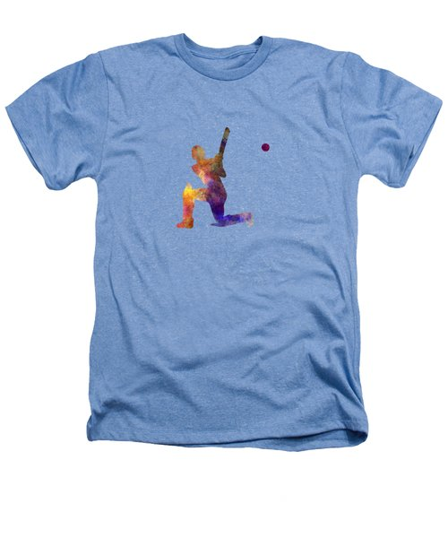 Cricket Player Batsman Silhouette 08 Heathers T-Shirt by Pablo Romero