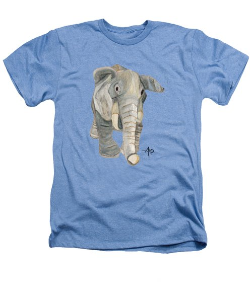 Cuddly Elephant Heathers T-Shirt by Angeles M Pomata