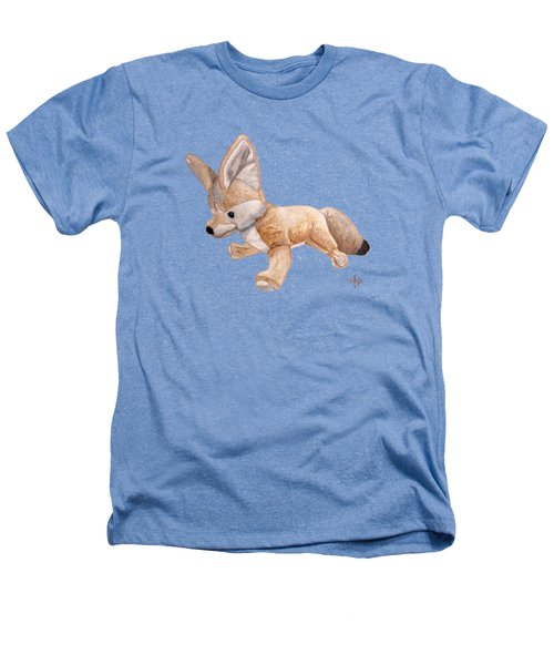 Cuddly Snow Fox Heathers T-Shirt by Angeles M Pomata