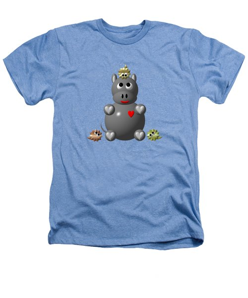 Cute Hippo With Hamsters Heathers T-Shirt by Rose Santuci-Sofranko