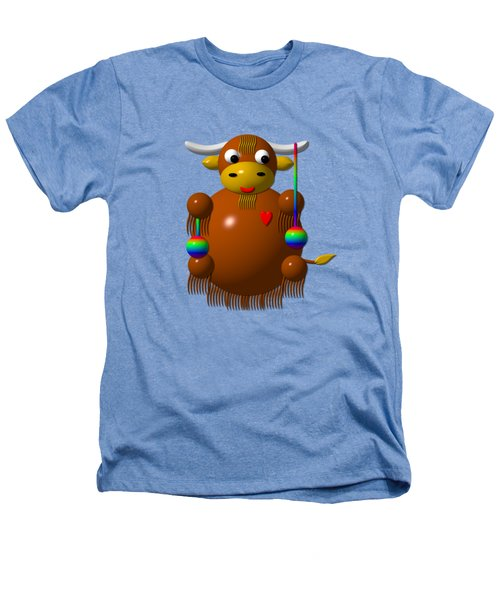 Cute Yak With Yo Yos Heathers T-Shirt by Rose Santuci-Sofranko